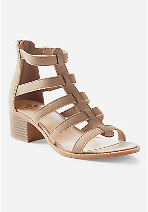 Girls Sandals Gladiator Lace Up Wedges Justice