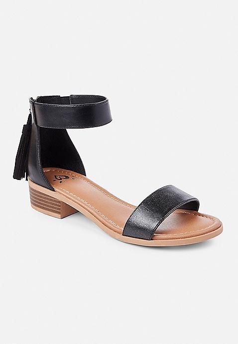 dcd85c87f33 Shimmer Ankle Strap Sandals