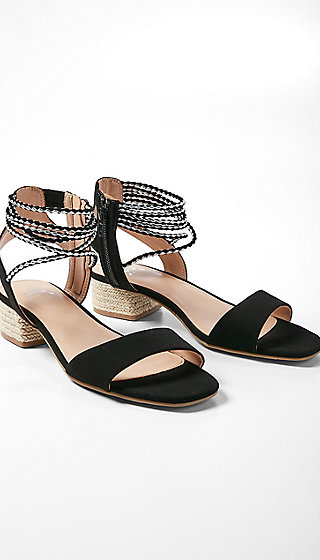 Braided Ankle Sandals