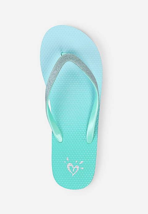 829201f7de46 Mint Ombre Flip Flops | Justice