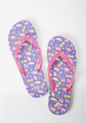 Flamingo Fun Color Changing Flip Flops