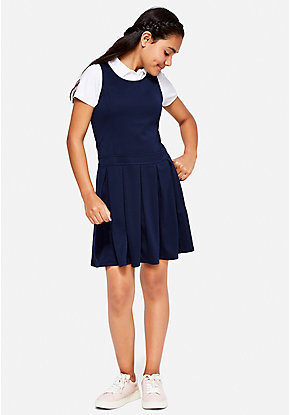 School Uniform Drop Waist Dress