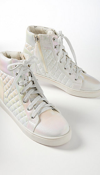 Shimmer Quilted High Top Sneaker