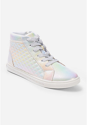 Holo Quilted High Top Sneakers