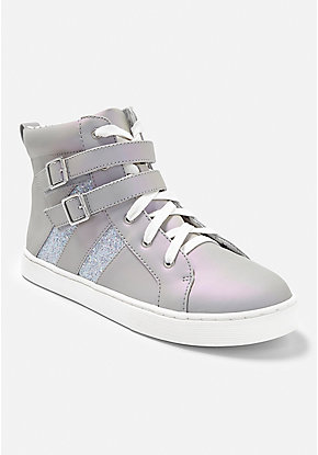 Double Buckle High Top Sneaker