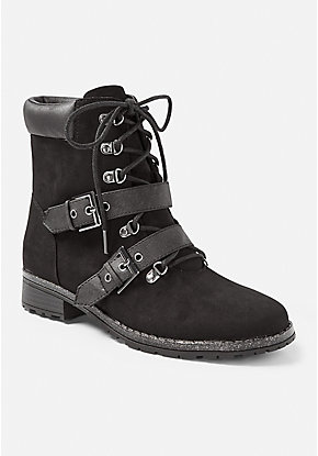 Moto Lace Up Boot