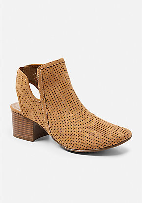 Perforated Slingback Bootie
