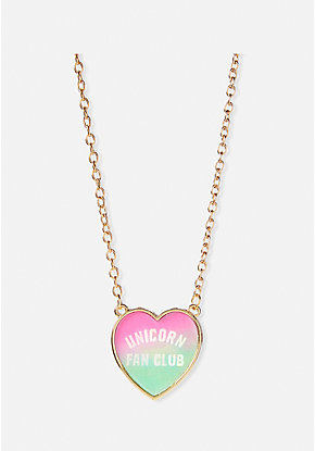 Unicorn Fan Club Holo Pendant Necklace