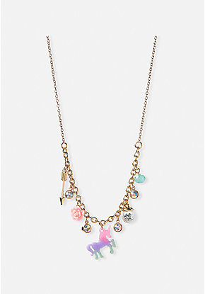 Unicorn Love Charm Necklace
