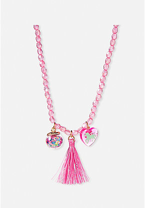 Unicorn Charm Beaded Necklace