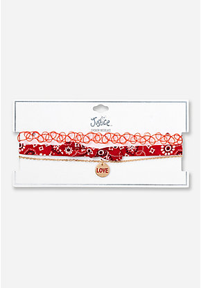 Love Bandana Choker - 3 Pack