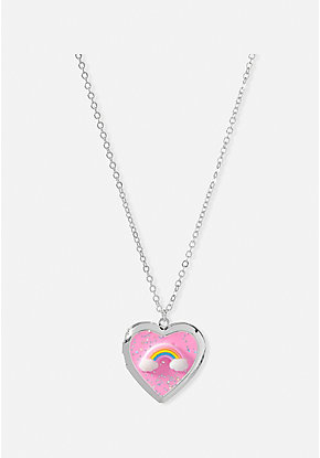 Rainbow Squish Locket Necklace