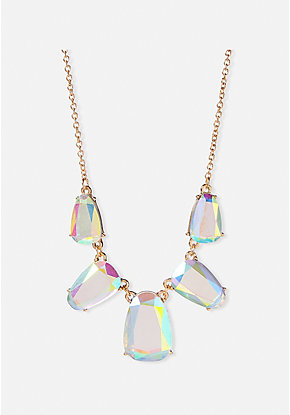 Iridescent Crystal Statement Necklace