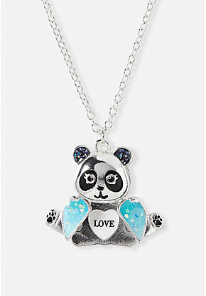 Panda Hidden Message Necklace