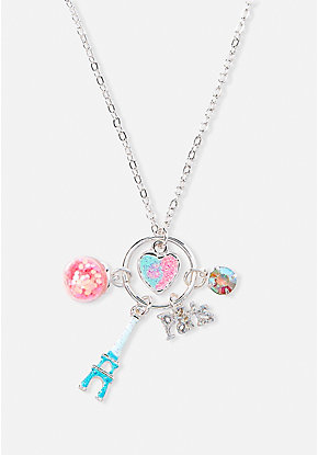 Paris Cluster Charm Pendant Necklace