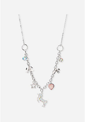 Unicorn Bow Charm Necklace