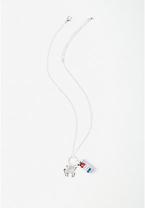 Unicorn Wishes Charm Pendant Necklace