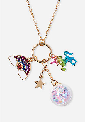 Ranbow Magic Charm Pendant Necklace
