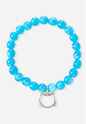 Blue Cat Outline Bracelet