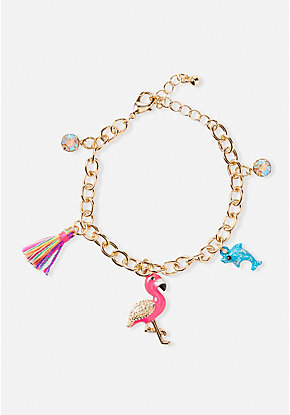 Flamingo Fun Charm Bracelet