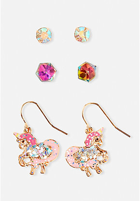 Unicorn Prism Earrings - 3 Pack