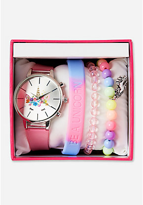 Unicorn Watch & Bracelet Set