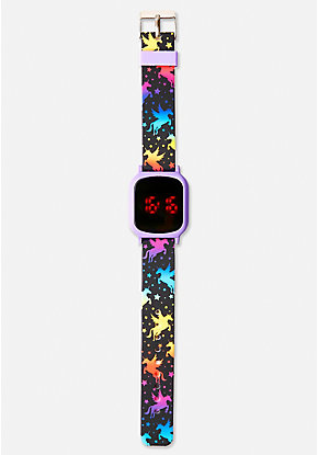 Rainbow Unicorn LED Watch