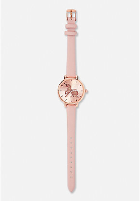 Rose Gold Unicorn Watch