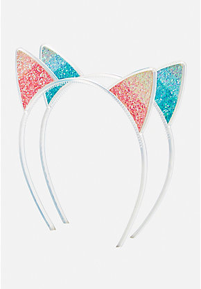 Ombre Glitter Cat Ear Headband - 2 Pack