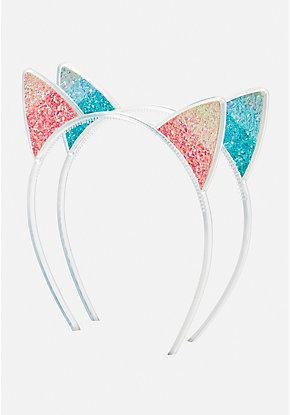 3fb72a071ce Ombre Glitter Cat Ear Headband - 2 Pack