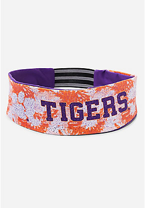 Clemson Tigers University Tie Dye Headwrap
