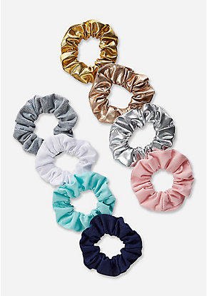 Solid Scrunchie - 8 Pack