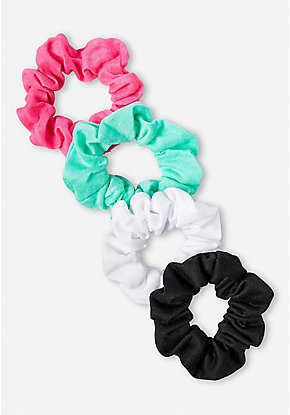 Solid Scrunchie - 4 Pack