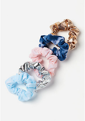Tye Dye & Shine Scrunchies - 5 Pack