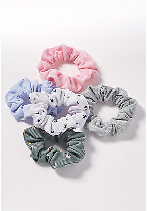 Ribbed Scrunchie - 5 Pack