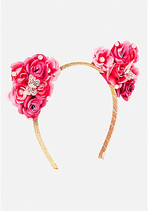 Rose Garden Cat Ear Headband