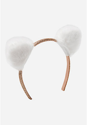White Cat Ear Headband