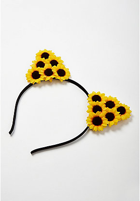 Sunflower Cat Ear Headband