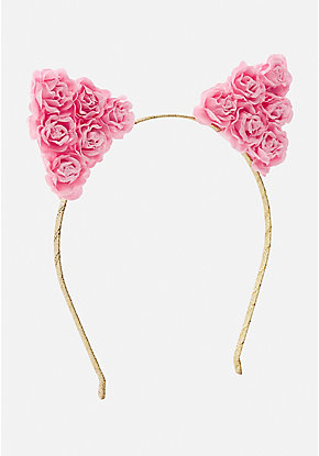 Rosette Cat Ear Headband