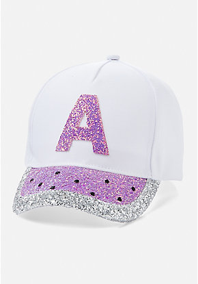 Watermelon Sparkle Initial Baseball Cap
