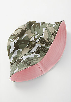 Pink & Camo Reversible Bucket Hat