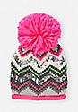 2-Count Chevron Stripe Sequin Beanie