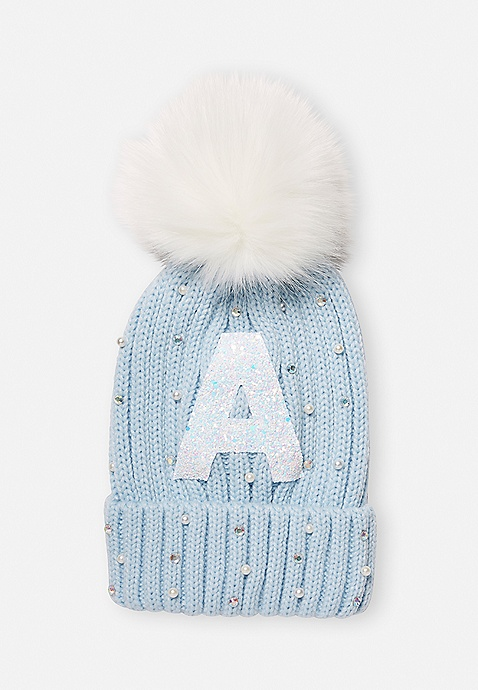 M/&Co Girls Sequin Pom Pom Hat