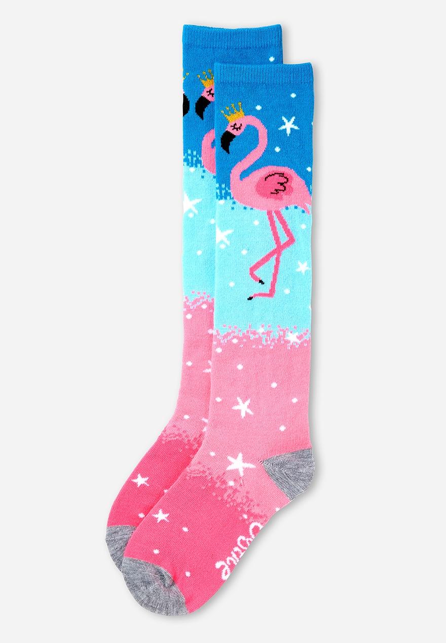 39ca5eeb62ff3 Royal Flamingo Knee High Socks