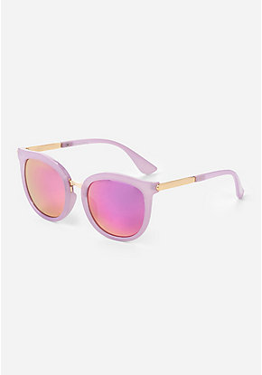 cffb230ac8f95 Purple & Gold Round Sunglasses