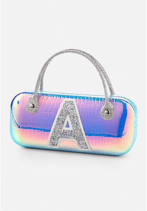 Holo Initial Glasses Case