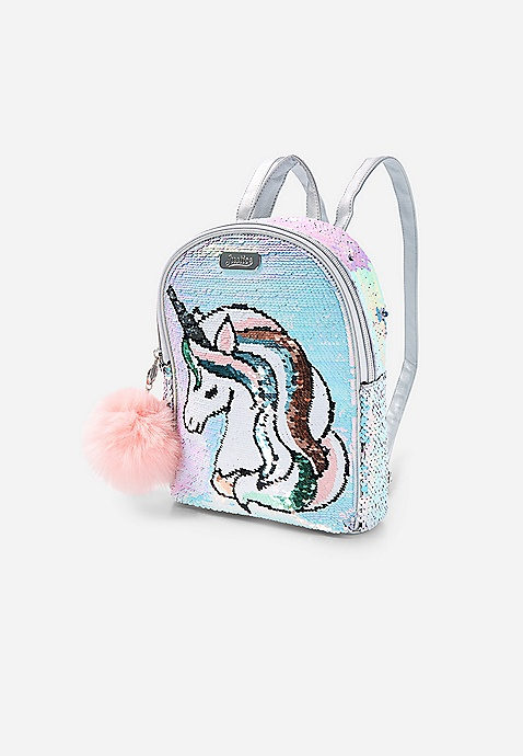 f0f602477afc Unicorn Flip Sequin Mini Backpack | Justice
