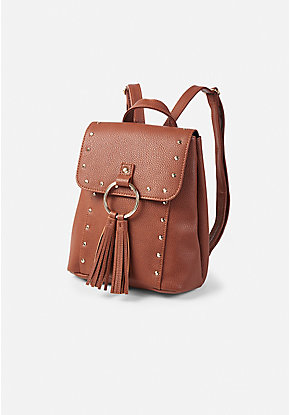 Justice Signature Brown Mini Backpack