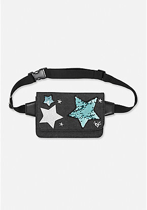 Denim Star Belt Bag