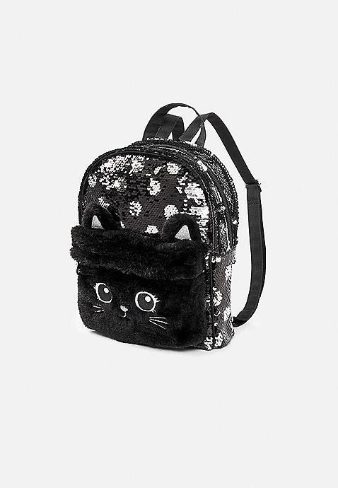 a55f799b038c4b ... Black Cat Flip Sequin Mini Backpack. Previous Next